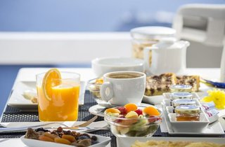 Hotel Aqua Luxury Suites Frühstücksraum