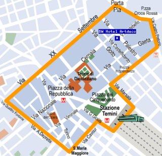 Hotel Best Western Artdeco Landkarte