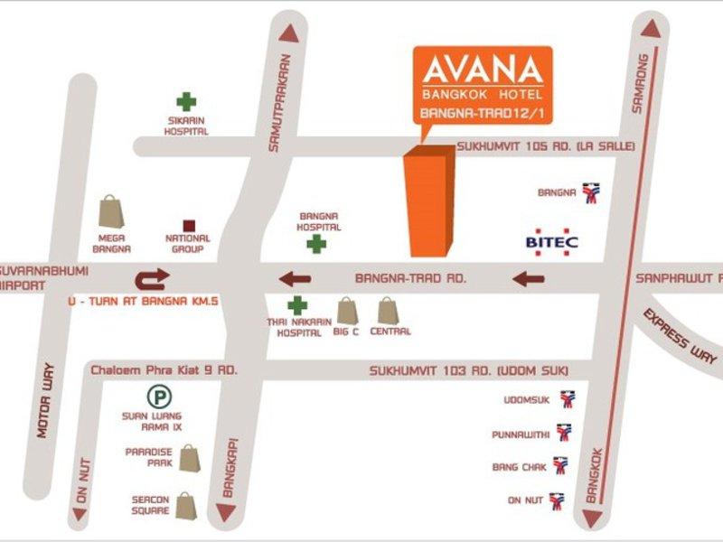 Avana Landkarte