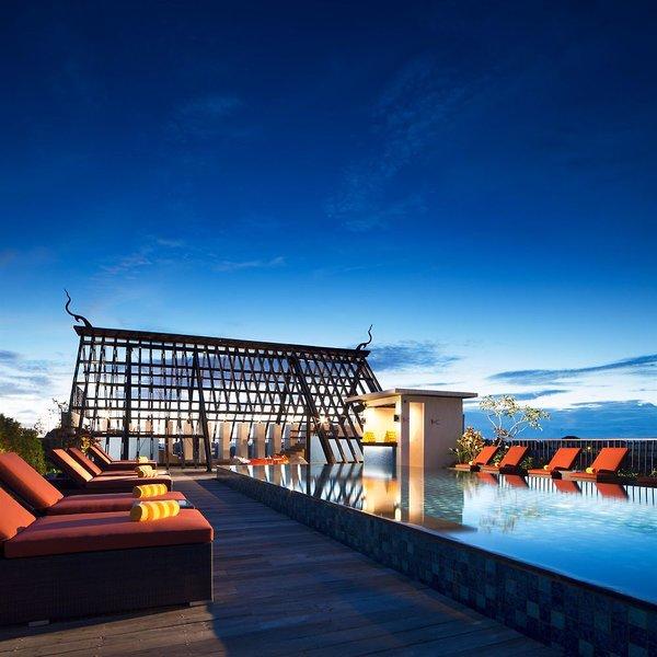 Sun Island Hotel & Spa Legian Terrasse
