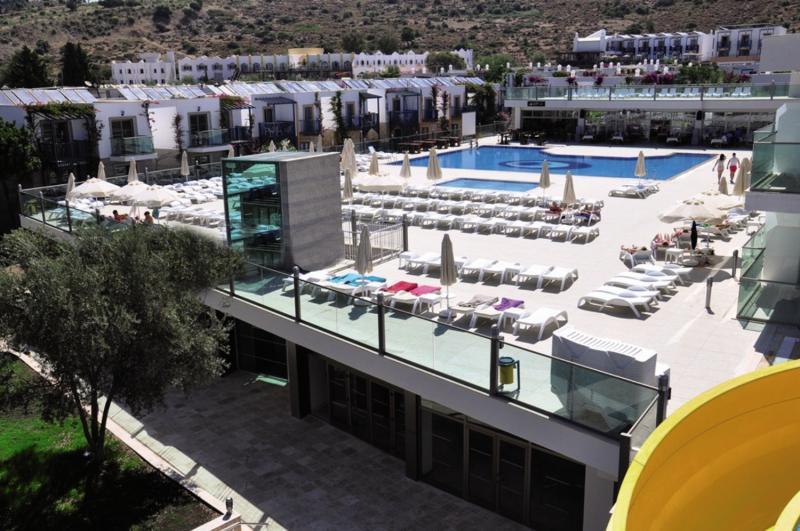 Jasmin Beach Hotel Terrasse