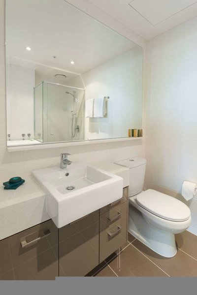 Melbourne Short Stay Apartments Southbank Collection Badezimmer