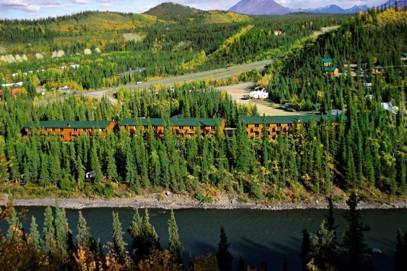 Denali Grizzly Bear Cabins & Resort Hotel Cedar Landschaft