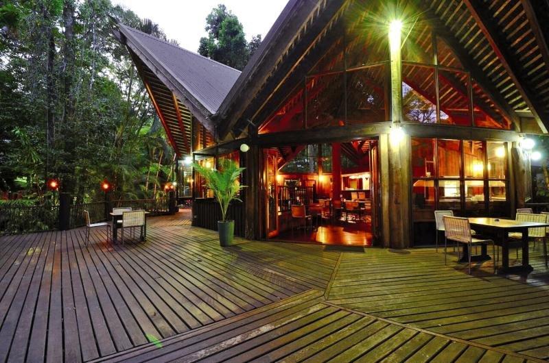 Ferntree Rainforest Lodge Terrasse