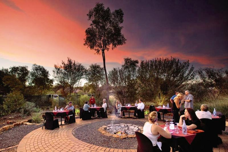 Kings Canyon Resort Terrasse