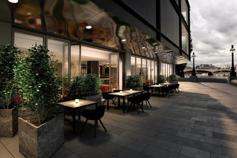 Sea Containers London  Terrasse