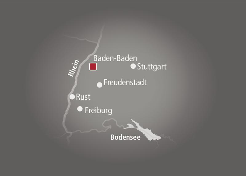 Brenners Park-Hotel & Spa Landkarte